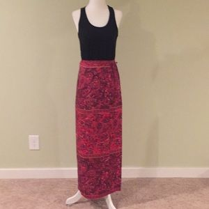 Silk wrap maxi skirt